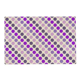 Shades Of Purple Polka Dots Laminated Place Mat