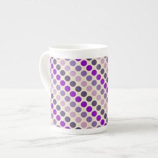 Shades Of Purple Polka Dots Tea Cup