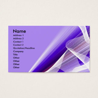 Shades of Purple Rays and Waves Business Card