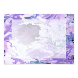 "Shades of purple swirly jagged abstract design 5"" x 7"" invitation card"