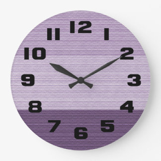 Shades of Purple Wall Clock