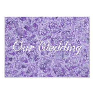 Shades of Purple Wedding Invitations, custom 13 Cm X 18 Cm Invitation Card