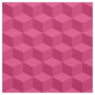Shades of Raspberry 3D Look Cubes Pattern 20P Fabric