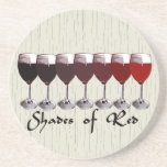 Shades of Red Beverage Coasters