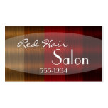 Shades of Red Hair Colour Stylist Business Cards
