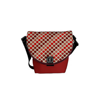 Shades of Red Polka Dots by Shirley Taylor Commuter Bag