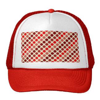 Shades Of Red Polka Dots Cap