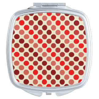 Shades Of Red Polka Dots Travel Mirror