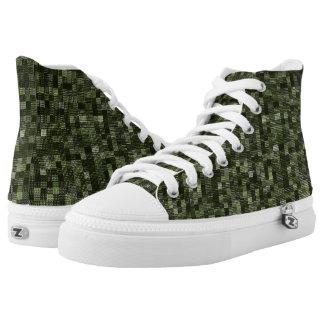 Shades Of Rifle Green Printed Shoes