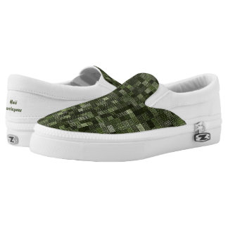 Shades Of Rifle Green Slip-On Shoes