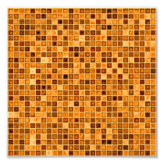 Shades Of Rust 'Watery' Mosaic Tile Pattern Photograph