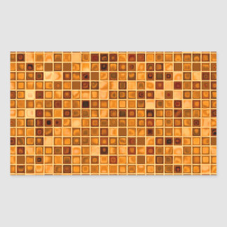 Shades Of Rust 'Watery' Mosaic Tile Pattern Rectangular Sticker