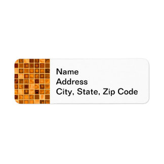 Shades Of Rust 'Watery' Mosaic Tile Pattern Return Address Label