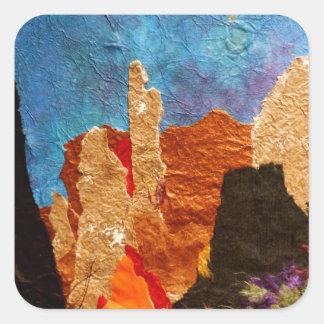 Shades of Sedona, collage Square Sticker