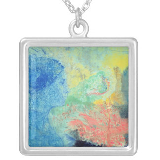 Shades of Sleep (pastel on paper Silver Plated Necklace