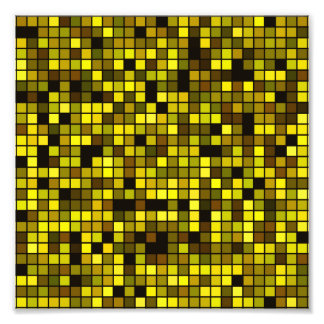 Shades Of Summer Yellow Squares Pattern Photo