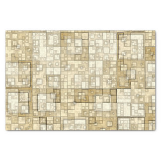 Shades of  Taupe Squares  Tissue Paper by Julie
