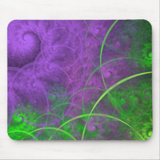 Shades of Toxic Waste Fractal Art Mouse Pad