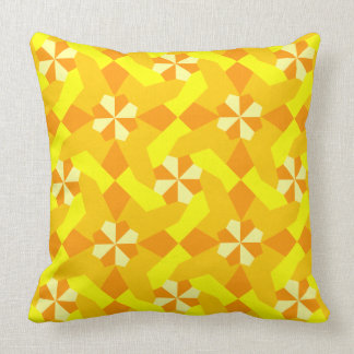 Shades of Yellow Intricate Patchwork Design Cushion