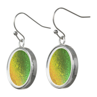 Shades of Yellow, Orange and Green Drop Earrings