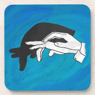 Shadow Anteater On Blue Beverage Coasters
