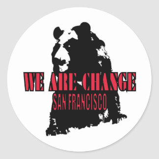 Shadow Bear SF Round Sticker