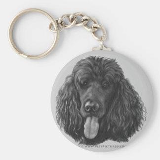 Shadow, Black Standard Poodle Key Chain