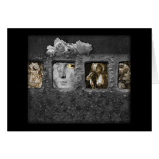Shadow Box Digital Collage by A E Ivey Note Cards