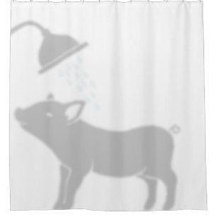 Shadow Buddy Pig In The Shower Curtain