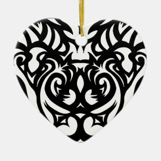 Shadow-cut art deco designer pattern by SPECT Ceramic Heart Decoration