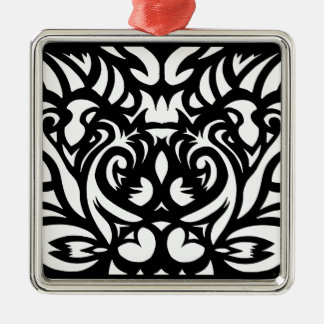Shadow-cut art deco designer pattern by SPECT Silver-Colored Square Decoration