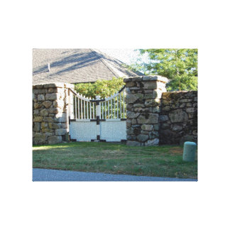 Shadow Farm Cltn, Gate In Wall Canvas Print