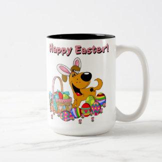 Shadow has Easter Bunny Ears! Two-Tone Mug