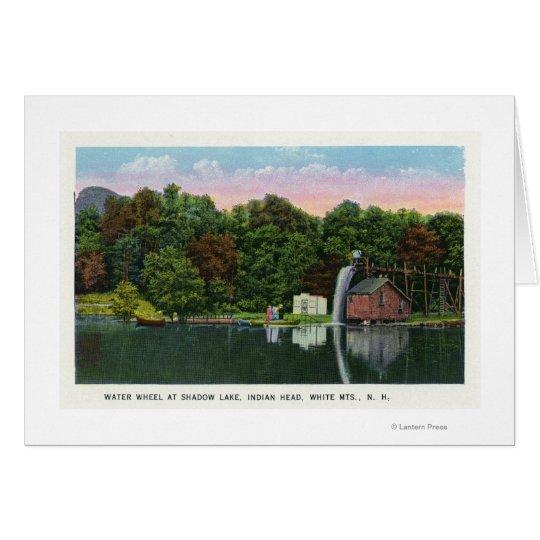 Shadow Lake Water Wheel Indian Head View Card