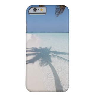 Shadow of a palm tree on a deserted island beach barely there iPhone 6 case