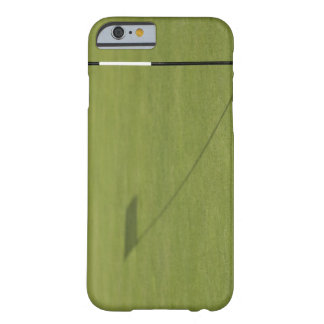 shadow of golf flag on golf course green barely there iPhone 6 case