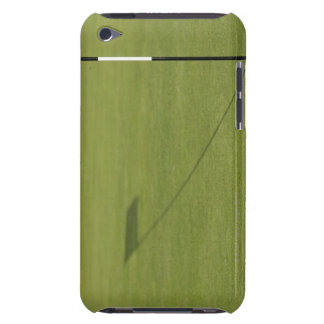 shadow of golf flag on golf course green iPod touch case