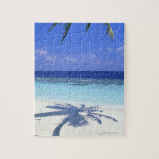 Shadow of Palm Tree Jigsaw Puzzle