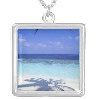 Shadow of Palm Tree Silver Plated Necklace