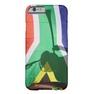 Shadow of soccer supporter blowing vuvuzela, barely there iPhone 6 case