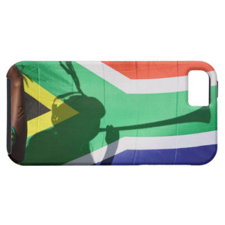 Shadow of soccer supporter blowing vuvuzela, iPhone 5 cases