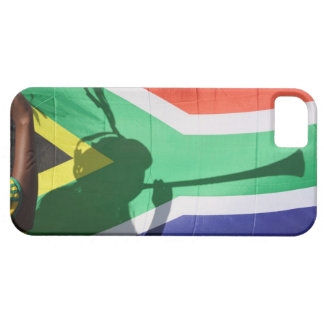 Shadow of soccer supporter blowing vuvuzela, iPhone 5 covers