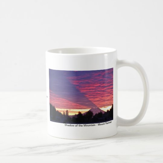Shadow of the Mountain - Mount Rainier Coffee Mug