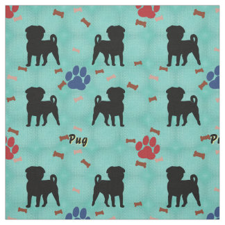 Shadow Pug Fabric