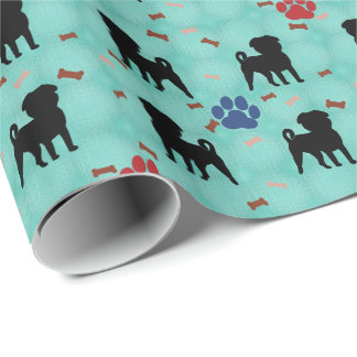 Shadow Pug Wrapping Paper