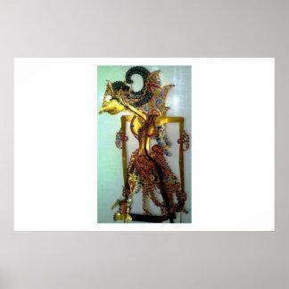shadow puppets Raden Arjuna Poster