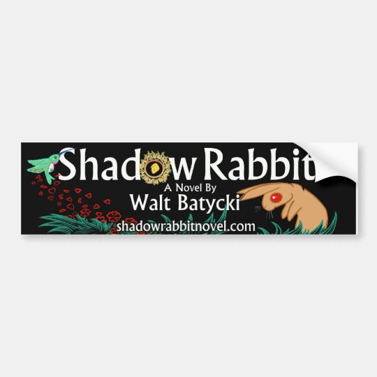 Shadow Rabbit Bumper Sticker