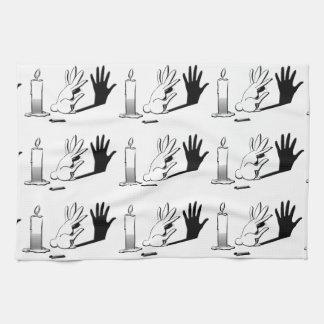 Shadow Rabbit by LightIllusions.com Hand Towels