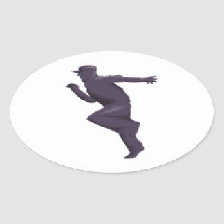 Shadow Runner Oval Sticker