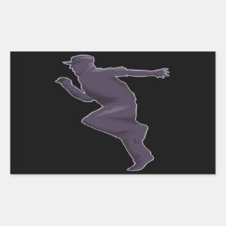 Shadow Runner Rectangular Sticker
